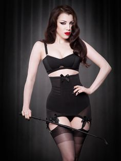 Vargas Longline Girdle in Black | Kiss Me Deadly