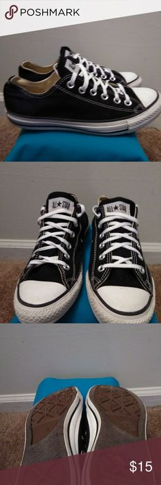 Chuck Taylors Chuck Taylors black and white used but good condition Converse Shoes Athletic Shoes