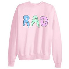 Tumblr Transparent RAD Sweatshirts ($21) ❤ liked on Polyvore featuring tops, hoodies, sweatshirts, sweaters, shirts, pink shirt, pink sheer shirt, sheer shirt, cotton shirts and transparent tops