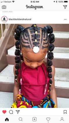 Kids braided hairstyles Black kids hairstyles Baby hairstyles Afro punk Kids hai - All For Hairstyles Unique Braided Hairstyles, Black Kids Hairstyles, Baby Girl Hairstyles, Natural Hairstyles For Kids, Natural Hair Styles, Little Girl Braid Hairstyles, Toddler Braided Hairstyles, Teenage Hairstyles, Girl Haircuts