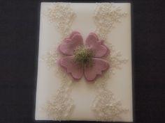 Wedding Memory Album Pink Green Ivory Lace by ArtisanFeltStudio on Etsy