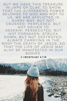 Treasures in jars of clay. 2 Corinthians 4:7-10