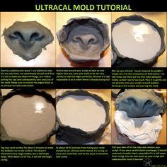 Ultracal mold tutorial by fenrirschild on DeviantArt Costume Tutorial, Cosplay Tutorial, Cosplay Diy, Cosplay Costumes, Eye Tutorial, Costume Makeup, Larp, Makeup Fx, Fursuit Tutorial