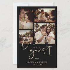 Funny Wedding Invitations, Photo Invitations, Modern Wedding Save The Dates, Trendy Wedding, Perfect Wedding, Wedding Collage, Simple Photo, Wedding Humor, Simple Weddings