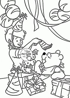 Winnie the Pooh Birthday Coloring Pages | Birthday ideas ...