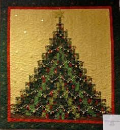 Bargello Christmas Tree,Picture only, no link Christmas Tree Quilt Pattern, Christmas Patchwork, Christmas Sewing, Christmas Projects, Christmas Quilting, Christmas Placemats, Christmas Patterns, Christmas Embroidery, Christmas Stuff