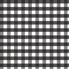 Tela tipo patchwork 100% algodón de primera calidad de importación (USA). Tela Vichy tamaño mediano. Cuadros blancos y negros.  Ancho 110 cm. Cada cuadro mide 1,2 x 1,2 cm.  Es ligera, ideal para patchwork, confección, decoración y otros proyectos de costura.