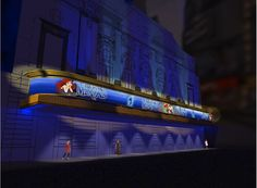 Rendering of the marquee for Disney's Little Mermaid at the Lunt-Fontanne