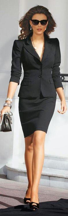 Tailleur jupe noir