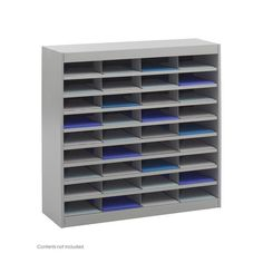 Safco 9221GRR E-Z Stor® Literature Organizer, 36 Letter Size Compartments