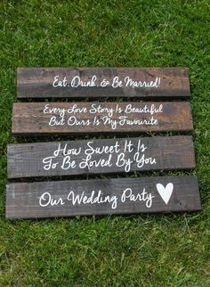 Wooden Wedding Signs.  Table Signs For Welcome by ScaleAndTailor