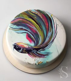 Looks yummy?🤔😋 ⠀ ⠀ Stay with 👉👉 to joy amazing desserts 🍩🍰😋 ⠀ ⠀ Credits by ⠀ ⠀ Tag in your photos. Bon Appetit, my friend! Mirror Glaze Cake, Painted Cakes, Pastry And Bakery, Little Cakes, Bakery Recipes, Looks Yummy, Pretty Cakes, Cake Art, Fun Desserts