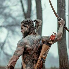"""""""Viking, Child of Odin"""" .Renaissance Nordic vikings cosplay at it's best! From Asgard to Valhalla! Music: """"Celtic Warrior"""" by Damiano Baldoni Please consid. Gorgeous Men, Beautiful People, Hipster Noir, Hair And Beard Styles, Long Hair Styles, Viking Men, Beard Tattoo, Tattoo Ink, Hommes Sexy"""