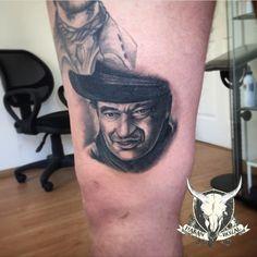 #johnwayne #western #tattoo #portraid #manisa #hasanbozal