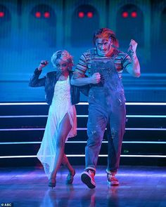 Comeback kid: Skai Jackson, 18, and Alan Bersten, 26, paid homage to the 1998 film The Bride Of Chucky, doing an Argentine tango to what Skai called 'one of my favorite movies ever'