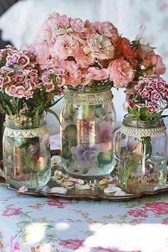 beautiful shabby chic flowers