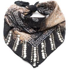 DANNIJO Sia ($148) ❤ liked on Polyvore featuring jewelry, scarves, dannijo, vintage jewellery, dannijo jewelry, vintage jewelry and clear crystal jewelry