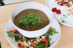 Vegan Mushroom Soup (Gluten-Free) Creamed Mushrooms, Stuffed Mushrooms, Stuffed Peppers, Crockpot Recipes, Soup Recipes, Keto Recipes, Free Recipes, Vegan Vegetarian