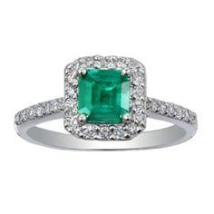 Custom Ring, Fancy Diamond & Emerald Halo Ring