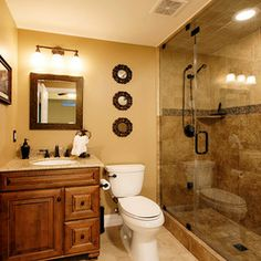 Ideas for our basement bathroom on pinterest Basement bathroom ideas