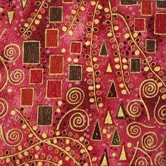 Klimt-style patterns with reflective golden highlights Gustav Klimt, Impression Textile, Art Sculpture, Oeuvre D'art, Textile Art, Art Nouveau, Decoupage, Abstract Art, Illustrator