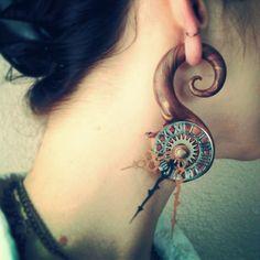 Steam punk, clock, jewelry, gauges, plugs, polymer clay, handmade, art