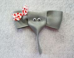 All about making bows -- 100's of bows including this elephant!