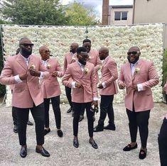 New fashion Pink Groomsman Suits Double Breasted Slim Fit Men Wedding Tuxedos Formal Party Prom Suits (Jacket+Pants) Men's Tuxedo Wedding, Wedding Men, Wedding Suits, Wedding Attire, Wedding Tuxedos, Wedding Groom, Wedding Ideas, Pink Groomsmen, Groom And Groomsmen Attire
