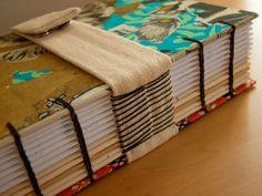 planner sewn with coptic stitch and over tapes - #bookbinding