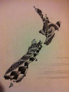 New Zealand Tattoo Designs 39 S Imagine Small Tattoos, Cool Tattoos, Tatoos, Maori Tattoos, Maori Designs, Tattoo Designs, Tattoo Ideas, Karten Tattoos, Fern Tattoo