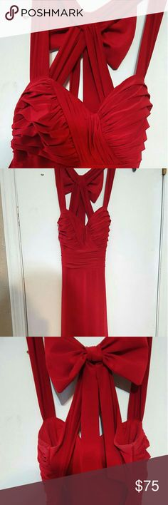 Form-fitting red prom dress Perfect dress for any prom or dance, accentuates your curves, perfect with a red lip and smoky eye. Loved this dress, you are sure to receive many compliments when wearing. In very good condition no tears or stains. **can send more info and pictures upon request** B. Darlin Dresses Prom