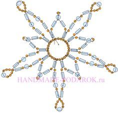 ornament cover Beaded Star PATTERN
