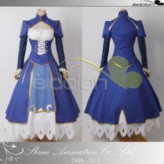 EE0038AD Fate/Zero Fate Night Saber Fighting Dress Cosplay Costume