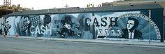 Johnny Cash graffiti art