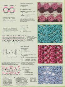innovart crochet: Let's practice . Crochet Stitches Chart, Crochet Diagram, Crochet Motif, Knitting Stitches, Crochet Designs, Knitting Patterns, Crochet Patterns, Stitch Magazine, Crochet For Beginners Blanket