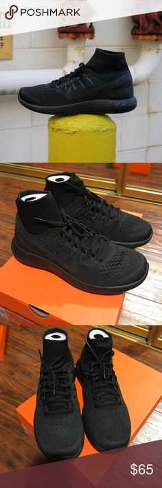 Nike Lunarglide 8 DBSide Used once, like new condition. Show sign of normal use on bottom of sole. Black with reflective swoosh and detail. Has sock liner on top for ultimate comfort/fit. Size 7 men's, which is a women's 8.5. NO TRADES Nike Shoes Sneakers