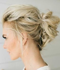 highlighted with messy loops updos for thin hair