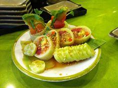 cucumber wrapped sushi= favorite sushi!! Makes me miss Florida!!