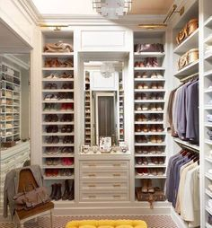 Organized walk in #closet.