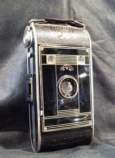 an Agfa art deco camera