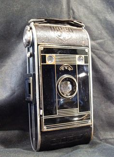 an Agfa art deco camera