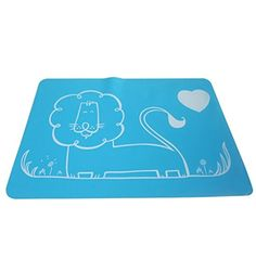 Jypc 1PC Silicone Catoon Washable Tableware Kids Dining Room PlacematLion Blue >>> See this great product.