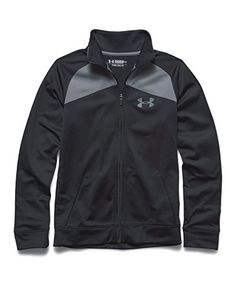 Under Armour Big Boys' UA Brawler Warm-Up Jacket Youth Medium Black ** You can get more details at
