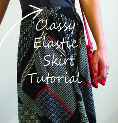 """Do you ever feel like the only place you could wear a skirt with an elastic  casing is a Pioneer Day reenactment? Are you looking for a simple easy way  to make a skirt without using interfacing or installing a zipper?Would you  like to know how to make this waistband? Carry on, dear readers!  Supplies needed:      * 1"""" wide elastic: You will need enough to fit around your body where       you want your skirt to hang on you. Typically your waist or your hips       or somewhere in between."""