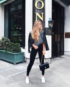 Street-style outfit spirit for wear sneakers with spring and summer evening wear. Fall Winter Outfits, Autumn Winter Fashion, Summer Outfits, Casual Outfits, Fashion Mode, Look Fashion, Womens Fashion, Net Fashion, Street Fashion