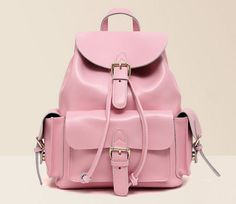 Handmade Leather Backpack / Messenger / Satchel / Shoulder Bag In Pink on Etsy, $79.00