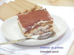 Tiramisú de galletas y sin huevo, más sencillo imposible | Cocina  Para hacerlo con peques se puede cambiar el café por cacao.