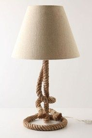This nautical lamp is so cool.