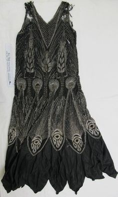 1920's beaded 'flapper' evening dress; Unknown; c.1920's; 1990_978 - The Kauri Museum ­ Matakohe on eHive