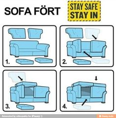 My brother and I made a fort like this every single weekend morning when we were younger. It's the first thought that comes into my mind when someone mentions a fort. How can you make a fort without couch cushions?!